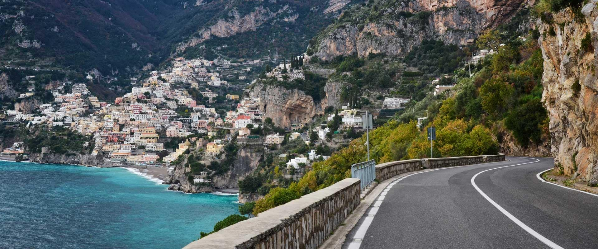 Amalfi, Italy coastal road